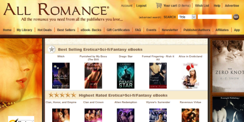 Best selling - erotica scifi fantasy